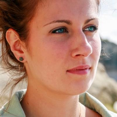 Bijoux d'oreilles Camélia