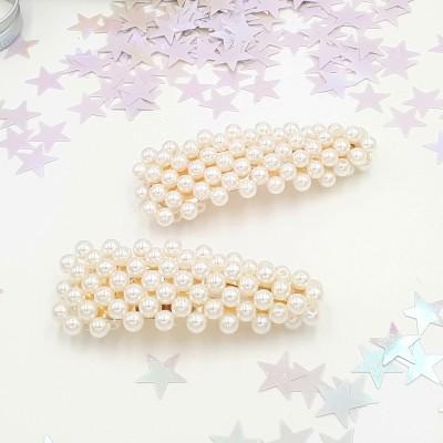 Barrette perles
