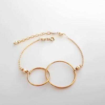 Bracelet Toi + moi doré